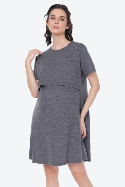 Maternity Sleepwear In Anchor Grey